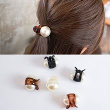 Neue Mädchen Perle Mini 1PC Haar Klaue Barrettes Frauen Haar Krabben Haar Krallen Frauen Machen UP Waschen Werkzeug Haar zubehör