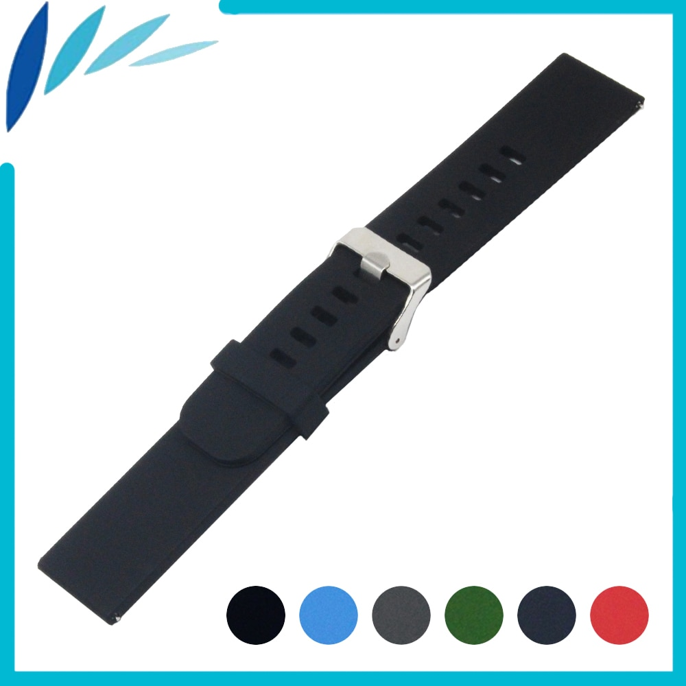 Silicone Rubber Watch Band 20mm 22mm for Amazfit Huami Xiaomi Smart Watchband Stainless Clasp Strap Quick Release Belt Bracelet