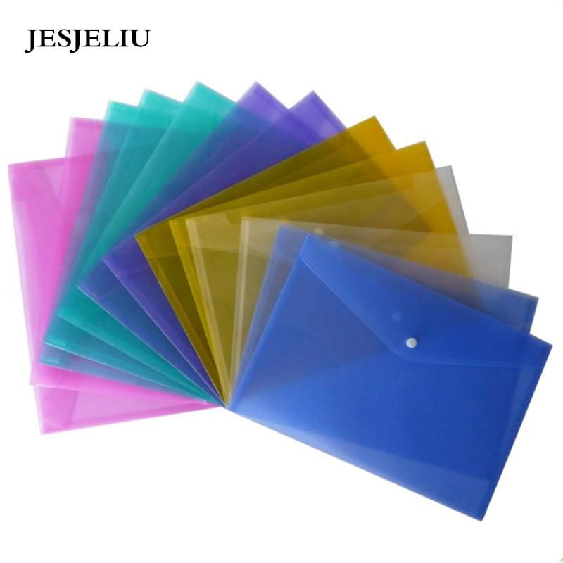 1 ud. A4 bolso para documentos de PP (polipropileno) Carpeta Archivadora escolar suministros de oficina archivador transparente de 6 colores para regalos premio de estudiantes