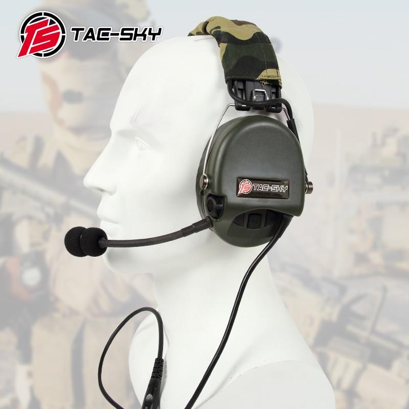 TAC-SKY TCI LIBERATOR II سيليكون earmuff النسخة تخفيض الضوضاء لاقط سماعة-FG