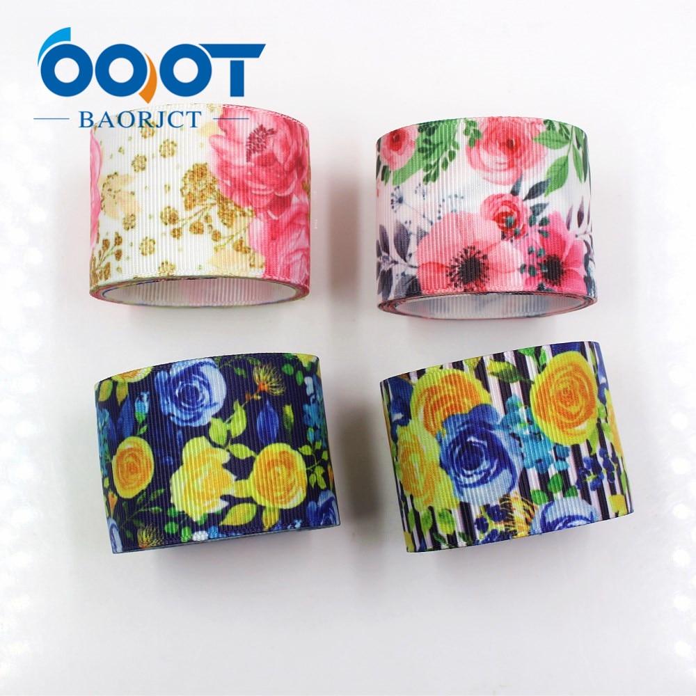 I-19330-838 1-1/2 38mm flores gradiente impreso cinta 10yds/lote DIY hecho a mano lazos regalo fiesta accesorios de decoración