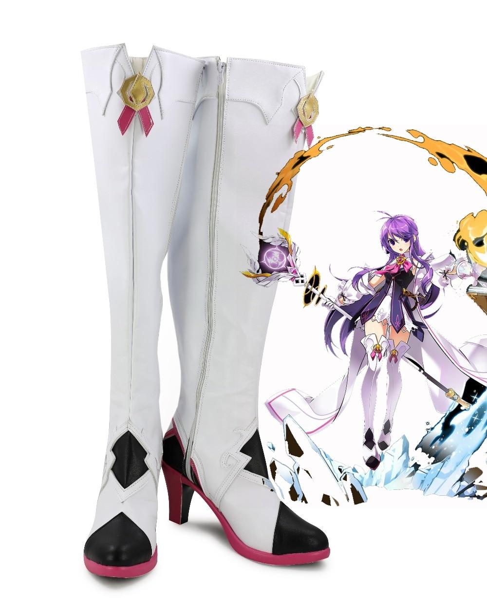 Elsword amor ao vivo magia meninas ur sakurauchi riko lolita punk cosplay botas de fantasia sapatos