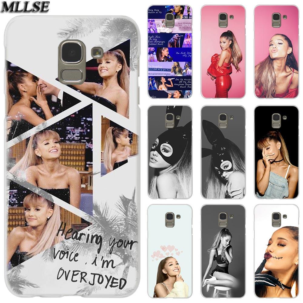 MLLSE Ariana Grande de moda cubierta de funda transparente para Samsung Galaxy J2 J4 CORE J3 J5 J7 2016 de 2017 de la UE J8 J6 2018 J4 Plus J7 primer caliente