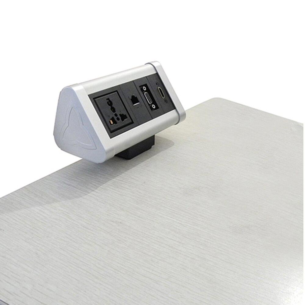 La gama Electrack on-desk trae energía, datos y carga rápida por USB a la moderna funcionalidad de escritorio que mejora la