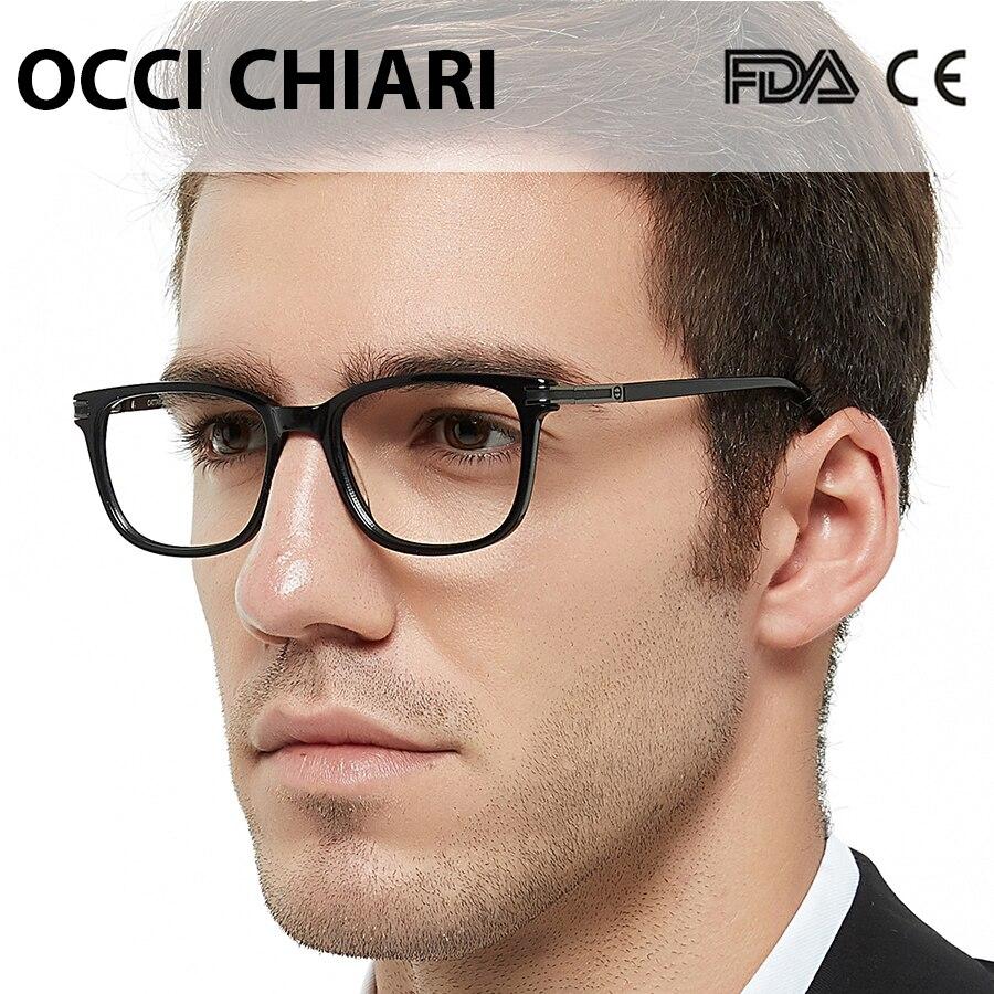 OCCI CHIARI, montura de gafas con bloqueo de luz azul, montura de gafas graduadas para hombres, monturas de gafas negras de tendencia, gafas claras, gafas