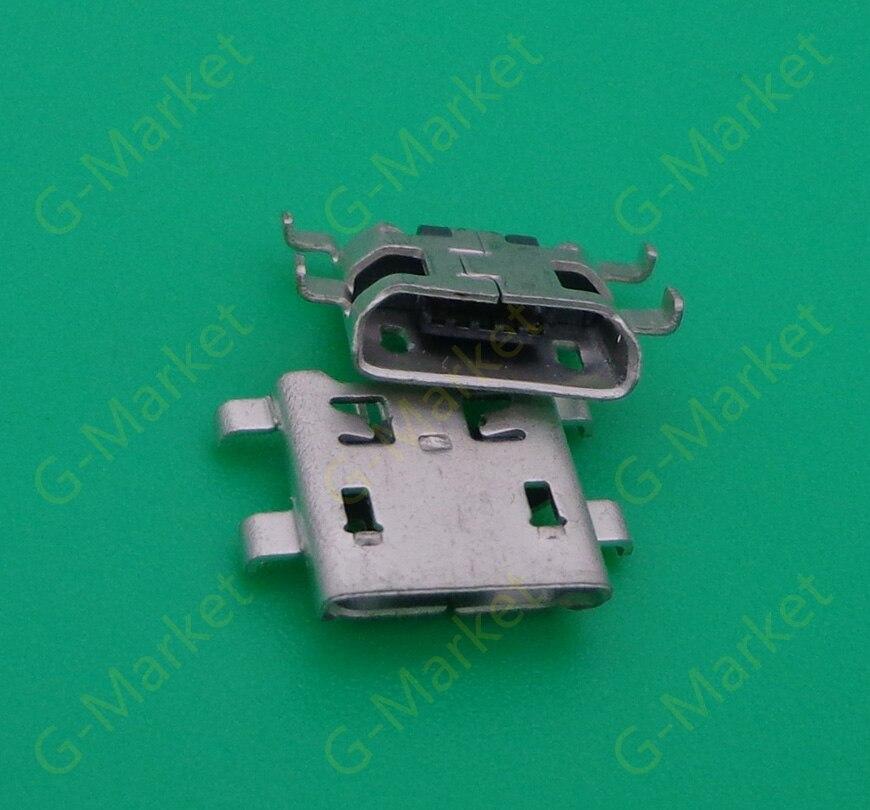 100 PÇS/LOTE Jack Micro USB Tomada de Carregamento do conector Para Pournelle PLOYER MOMO mini-p707 Pia tipo boca Oblíqua