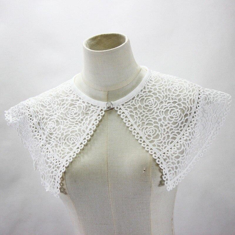 1 Uds mujeres señora collar de encaje falso desmontable solapa camisa capa falso abierto chal vestido collar ornamental BBB0693