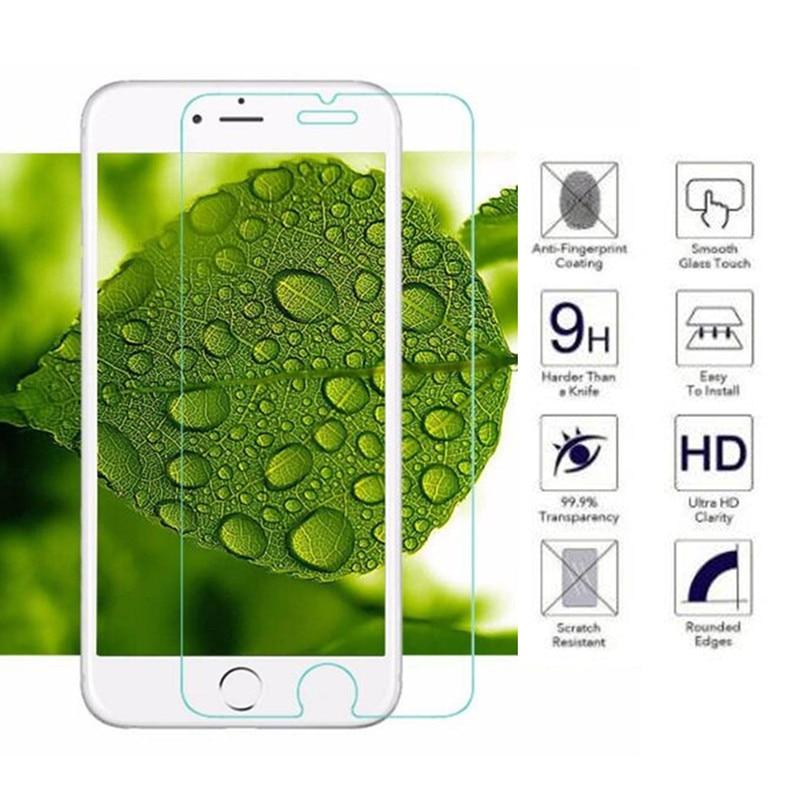 Hopeboth 10 unids/lote Ultra delgada Anti-rotura protector de pantalla de vidrio templado para iPhone 7 6X8 6s plus 7 7 5 5S 5c 4 4S película