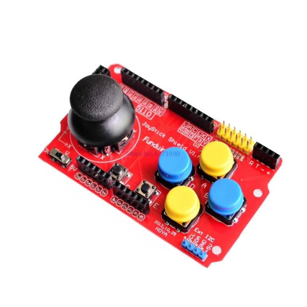 Free shipping Gamepads JoyStick Keypad Shield PS2 for Arduino nRF24L01 Nk 5110 LCD I2C