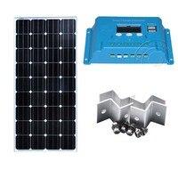 Kit Panneau Solaire 12 v 150 w Solar Charge Controller 12v /24v 10A Bateria Solar Caravan Marine Yacht Boat Phone Laptop Car