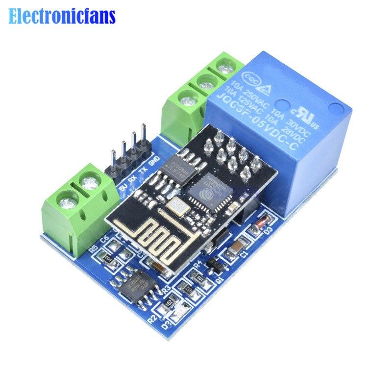 ESP8266 5V WiFi módulo de relé cosas inteligente Control remoto en casa interruptor de Control de aplicación de teléfono ESP-01 ESP01 controlador módulo WiFi inalámbrico