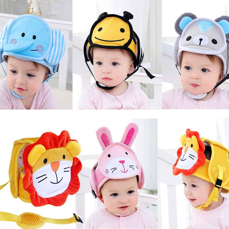 Baby anti-fall head protection cap adjust toddler anti-collision hat shatter-resistant hat kids safety helmet hat learn to walk