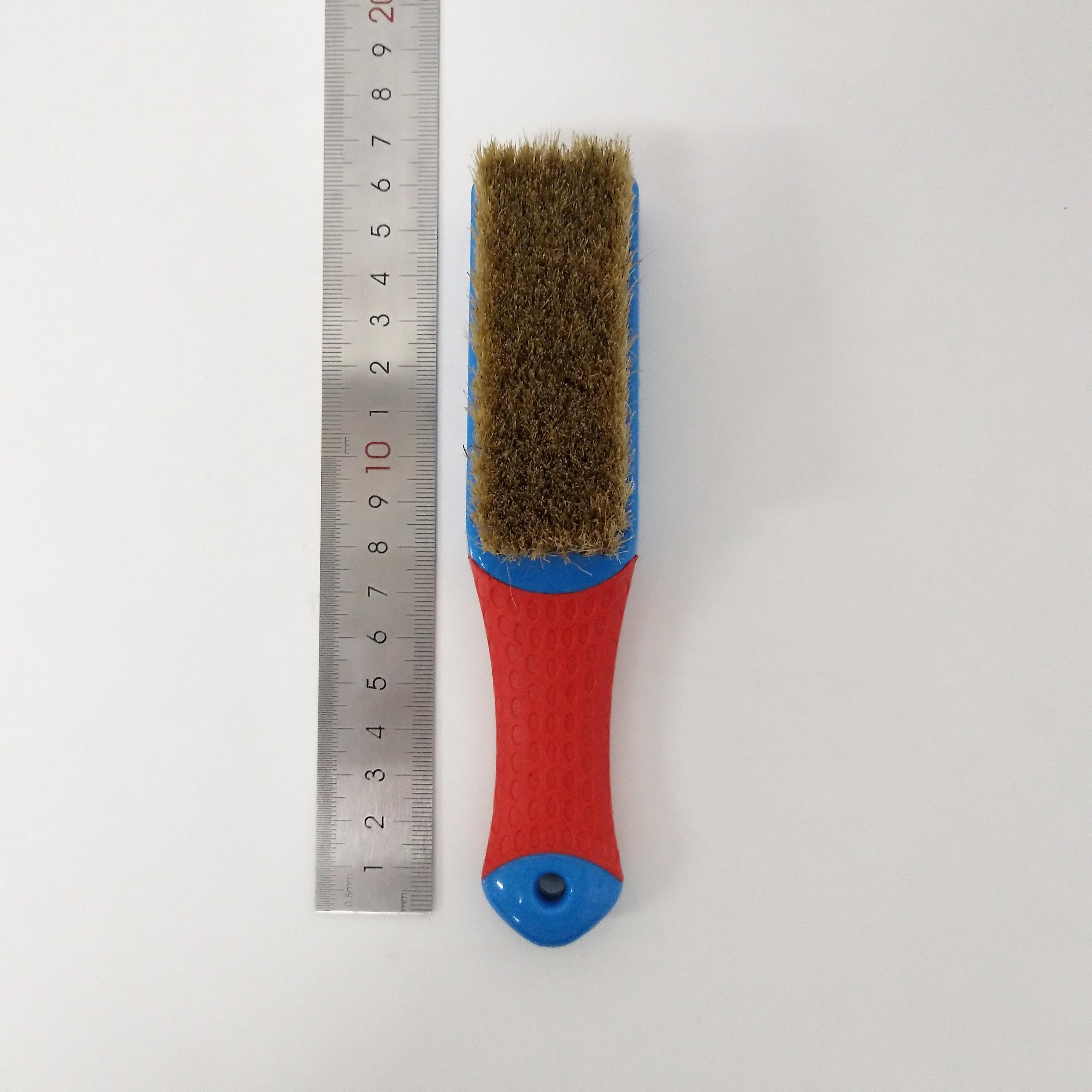 Ferramentas duráveis da superfície do metal da escova da cerda do amarelo de 1 pces para a remoção da pintura que limpa a oxidação