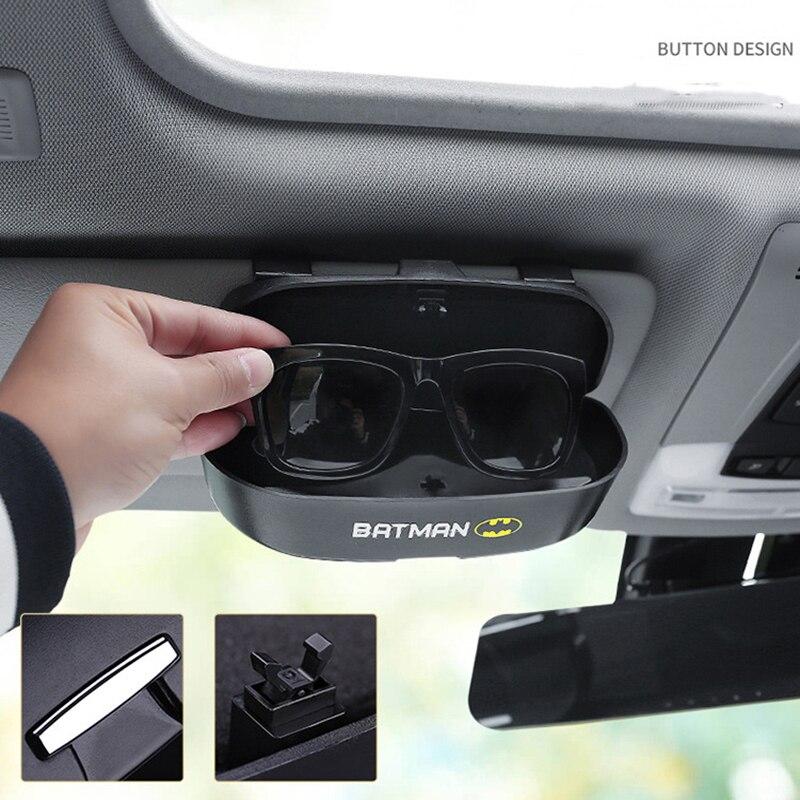 Car Glass Case Batman Car Glasses Box Storage Holder Sunglasses Case Auto Glasses Case Organizer Box Car Accessories