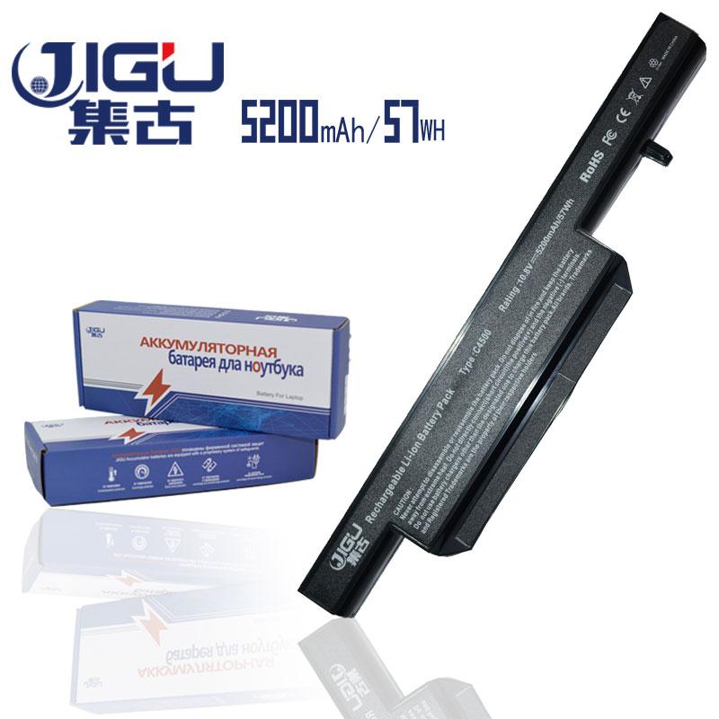 JIGU العلامة التجارية الجديدة 6 خلايا C4500BAT-6 بطارية الكمبيوتر المحمول C4500BAT6 6-87-C480S-4P4 لسلسلة Clevo C4500