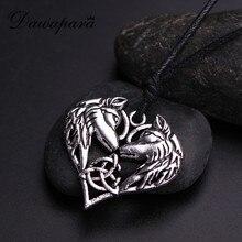 Dawapara irlandais trinité symbole coeur pendentif loup amulette Animal collier Talisman bijoux