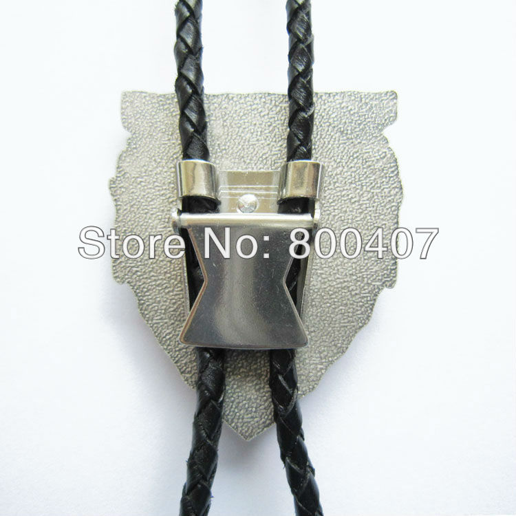 Retail Bolo Tie (New Silver Plating Western Rodeo Bull Bolo Tie) BOLOTIE-WT076SL Factory Direct In Stock Free Shipping