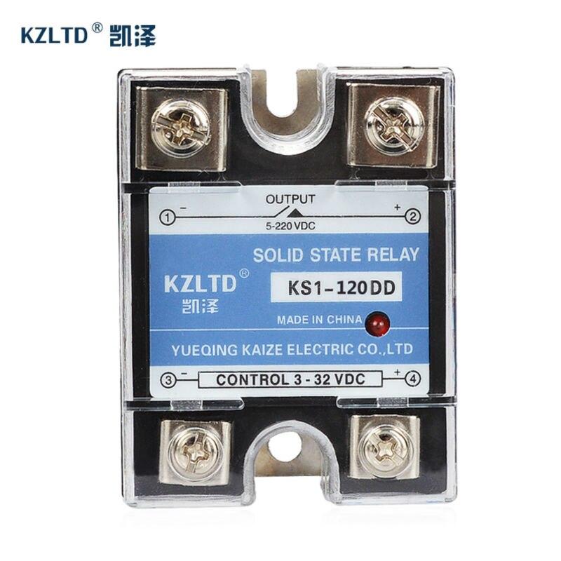 DD-DD 12 فولت وحدة تتابع الحالة الصلبة المدخلات 3 ~ 32VDC إلى الإخراج 5 ~ 220VDC التتابع 120A من وحدة تحكم في درجة الحرارة PID KS1-120DD