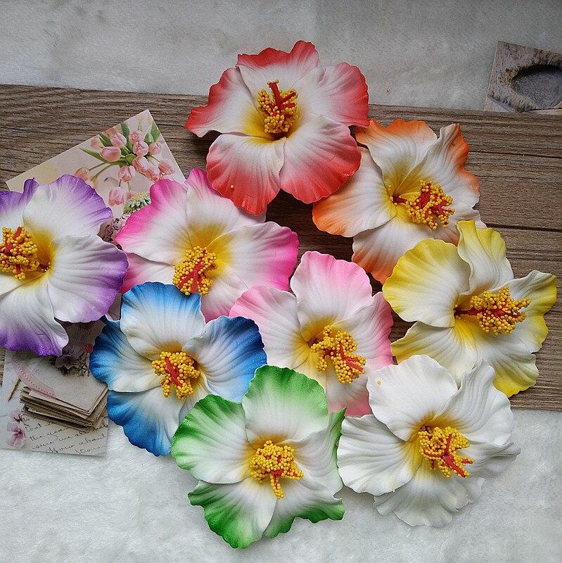 Accessoires pour cheveux 1 pièce   Épingle à cheveux hawaïenne, postiche sur le côté fleur, perle en cœur, frangipani Hibiscus rosa-sinensis, livraison gratuite