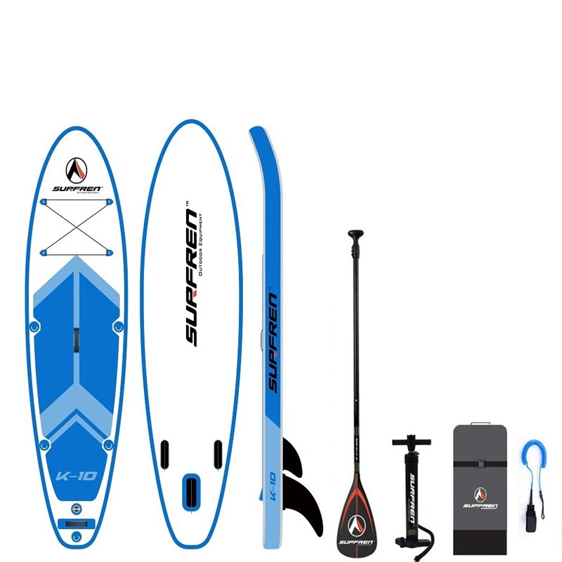 Inflatable Surf Stand Up SUP paddle board iSUP SurfingPaddle board SURFREN All RoundK-10 wakeboard kayakboat size305*81*15cm