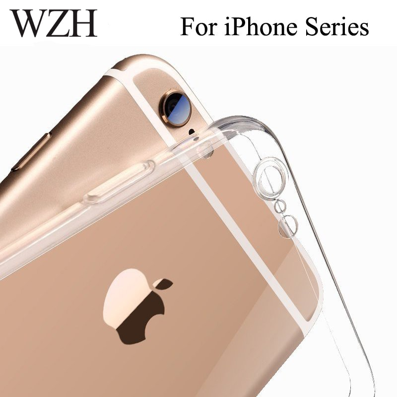 Para iPhone 7 funda protectora de teléfono de cámara en iPhone 6 8 5 5S X XS XR TPU funda parte posterior transparente funda para iPhone 8 6s 7 Plus