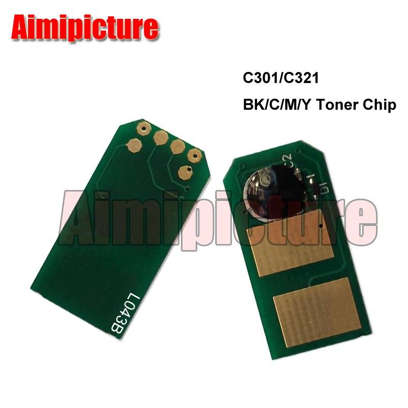 44973542 44973541 44973544 44973543 Toner Chip For OKI C301 C321 MC332 MC342 342dn chip 4pcs/lot