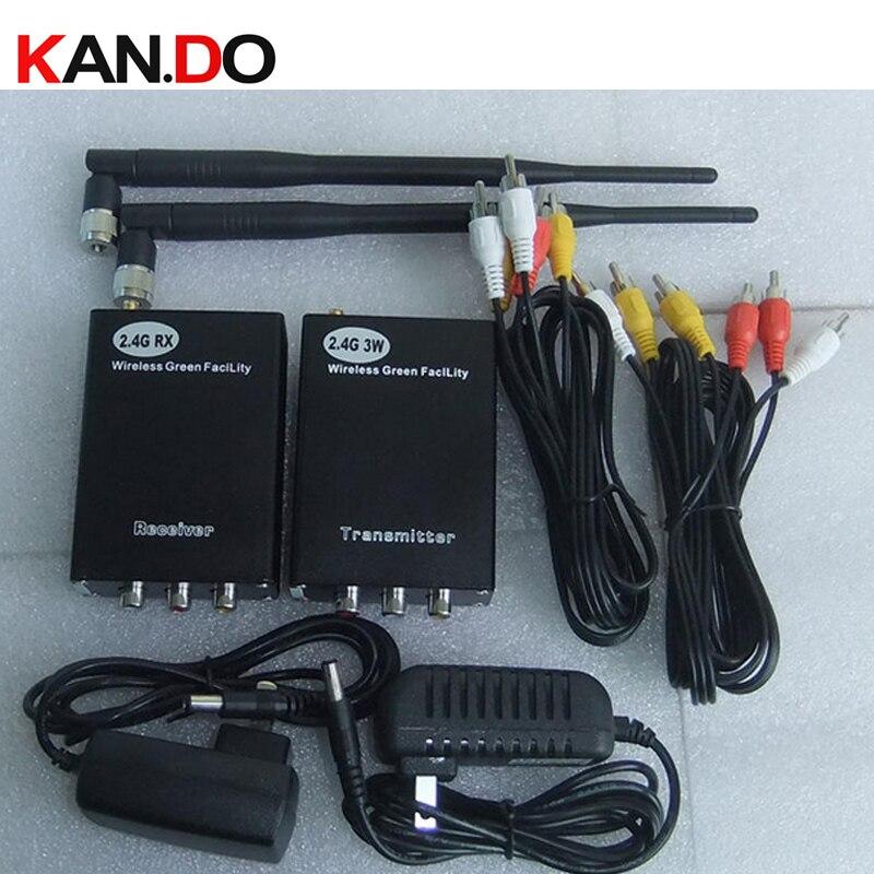 3W 2,4G elevador transceptor para cctv 2400Mhz 2,4G transmisor de audio y vídeo inalámbrico receptor para CCTV Cámara FPV transmisor 3W