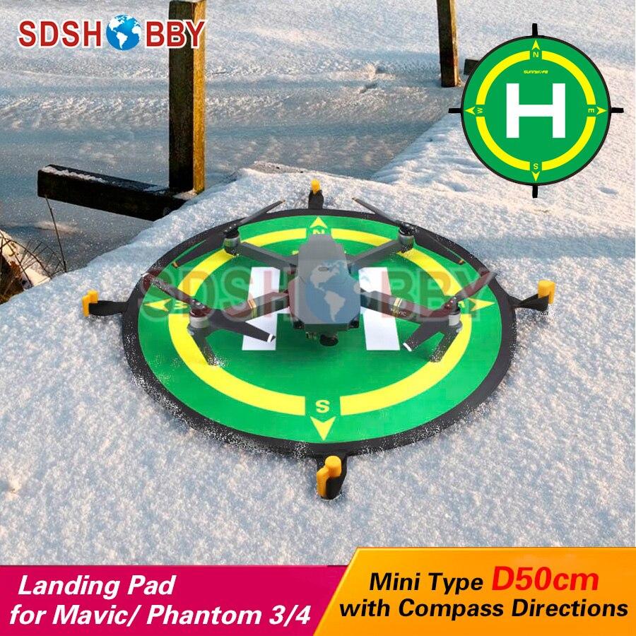 Sunnylife Foldable Landing Pad Helipad 50cm with Compass Directions for MAVIC AIR 2/Mini/ SPARK/ Air/PRO/ Phantom 3/4 PRO V2.0
