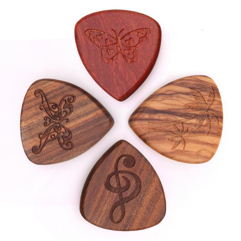 1Pcs New Guitar Picks Plectrum Solid Wood Fingerpicks High-end 0.46mm Guitarra Picks For Musical Instrument Accessories