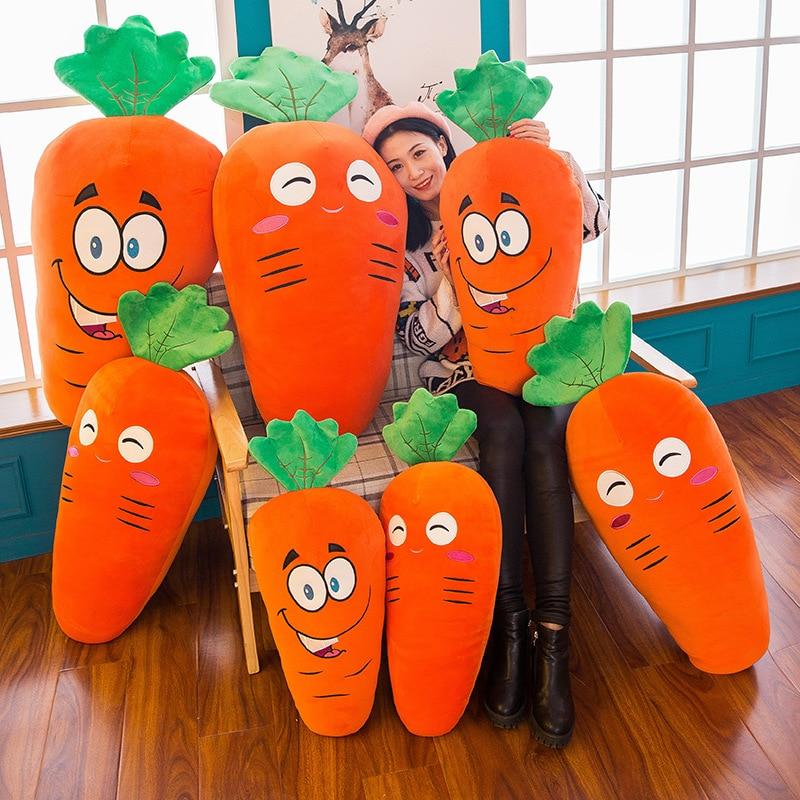 25CM 45CM Cute Carrot Stuffed Toy Plant Pillow Plush Cartoon Software Children's Girl Gifts For Birthday Christmas Stuffed Dolls