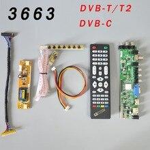 Универсальная плата для ЖК-драйверов DS.D3663LUA.A81.2.PA V56 V59, поддержка ТВ-панели с 7 клавишами, ИК, инвертор с 2 лампами, LVDS 3663
