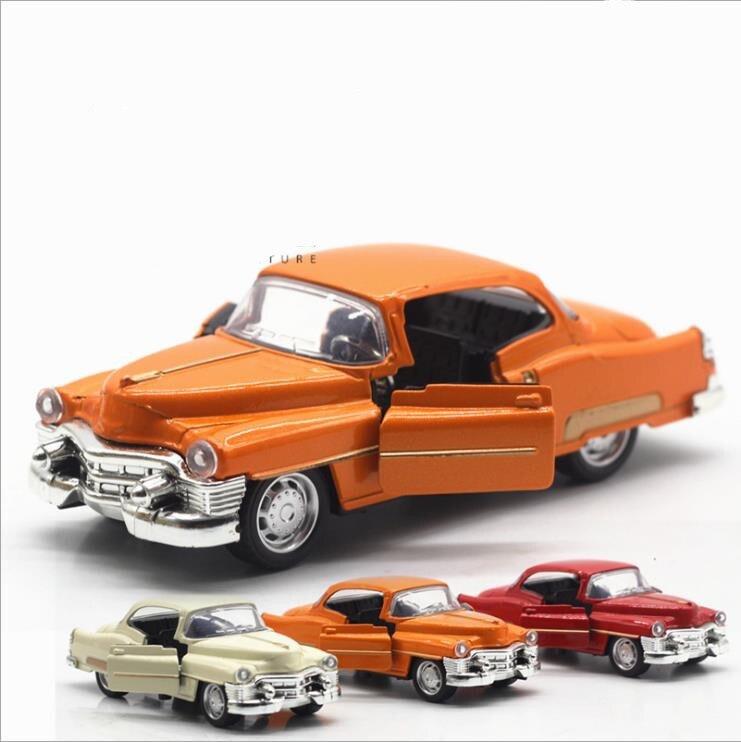 136 aleación tirar coche modelos de alta simulación Cadillac retro Vintage coche de diecasts juguete vehículo chico regalo envío gratis