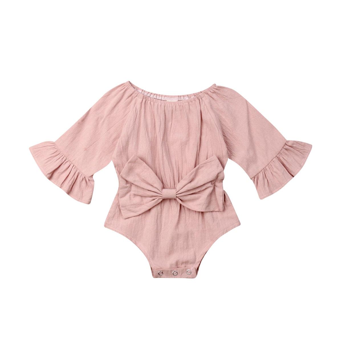Peleles de manga larga para bebés recién nacidos, mono con lazo, mono de otoño, primavera, ropa de Disfraces para Niñas