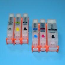 6 couleur PGI-970 CLI-971 recharge cartouche dencre avec puce de réinitialisation automatique pour Canon PIXMA mg7790 imprimante pour Canon PGI 970 CLI 971