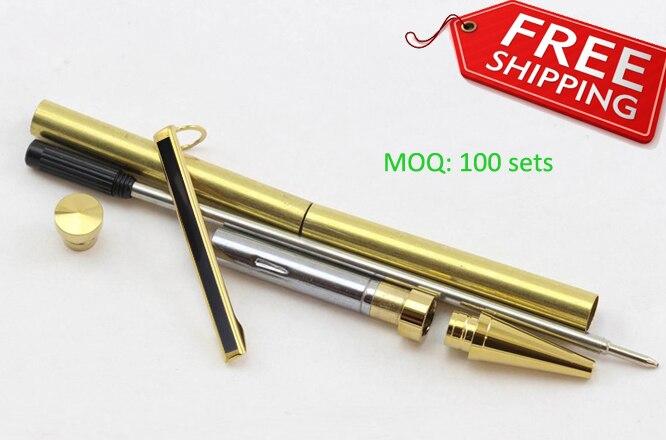 DIY slimline pen kits chapado en oro con raya negra envío gratis por express RZ-BP5 # G & B-Envío Gratis