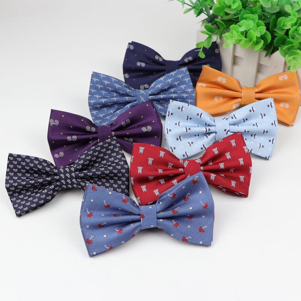 Мужской Детский галстук-бабочка из полиэстера, для велосипеда, зонта, собаки, автомобиля, галстука-бабочка для отдыха, для вечеринок, рубашк...