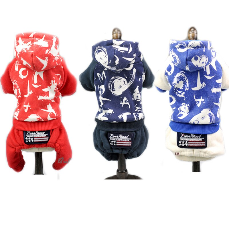 Abrigo para mascota y gato de moda para perros ropa para mascotas invierno cálido Chihuahua, Pitbull ropa para cachorros pequeños ropa deportiva mono con capucha