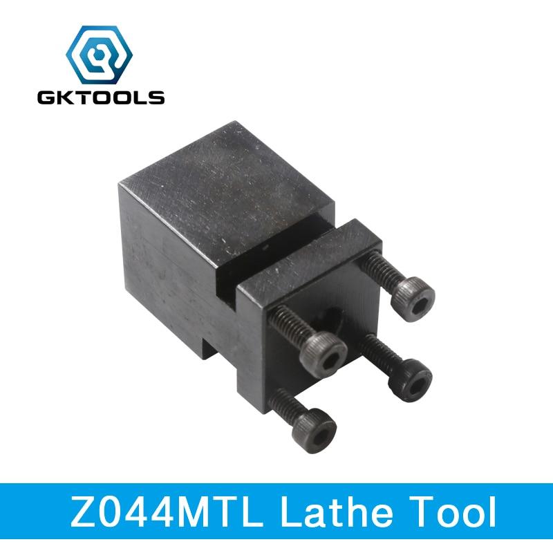 GKTOOLS, poste à outils 2 positions L, Mini porte-outil de tour en métal dédié, support de repose-outil de tour en métal, Z044MTL