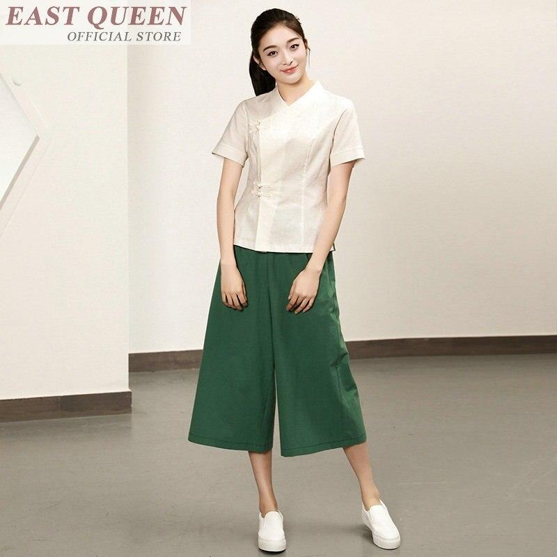 Uniforme de camarero chino, ropa de camarero de hotel, uniforme de camarera, uniforme de Ropa de Trabajo, conjunto de dos piezas, top y pantalones FF344 A