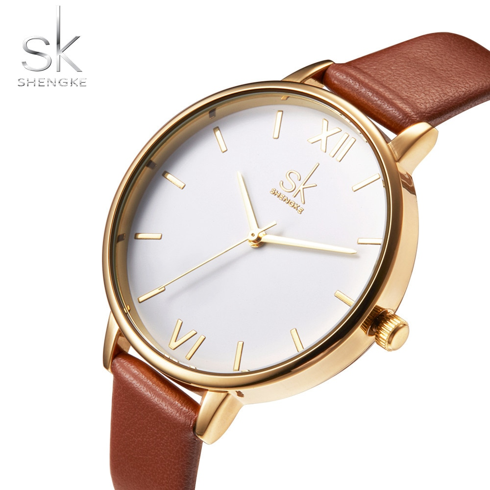 Shengke, relojes de marca superior para mujer, Reloj informal a la moda para mujer 2018, Reloj de pulsera Simple para mujer, Reloj elegante para mujer, Reloj de pulsera para mujer