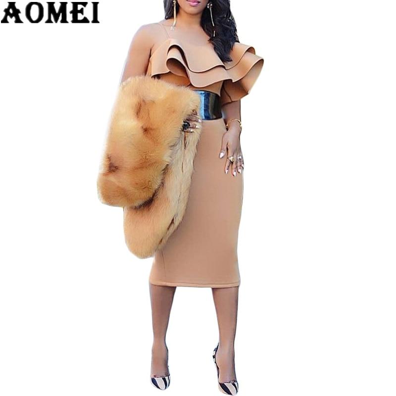 Women Bodycon Dress Spaghetti Strap Ruffles Off Shoulder Sexy Party Clubwear Dinner Evening Slim Tunic Plus Size Drop Shipping