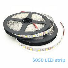 5 M LED bande 5050 RGB lumières 12 V Flexible décoration de la maison éclairage SMD 5050 LED étanche bande blanc/blanc chaud/bleu/vert/rouge