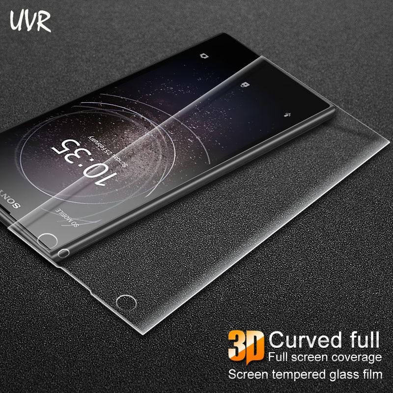 UVR para Sony Xperia XA2 3D curva la cobertura completa de vidrio templado para Sony XA2 Protector de pantalla Ultra película protectora XA2 Ultra
