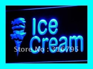 i113 OPEN Ice-cream Cafe Mini Bar NR LED Neon Light Light Signss On/Off Switch 20+ Colors 5 Sizes