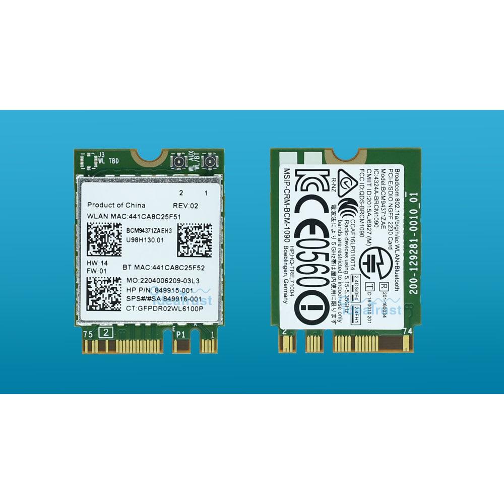 BCM94371ZAE 802.11ac SPS 849916-001 849915-001 BT4.1 867 Мбит/с BCM94371 M2 NGFF WiFi беспроводная сетевая карта PK BCM94352Z для HP
