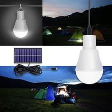 Solar Lamp 15W Solar Power USB 5-8V Opgeladen Lamp Zonnepaneel Ampul Led Voor Outdoor Reizen camping Tent Nachtlampje Gebruikt 6 Uur
