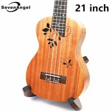 21 inch Ukulele Rosewood Fretboard 4 strings Mahogany Hawaiian guitar Electric Ukulele with Pickup EQ Butterfly love flower