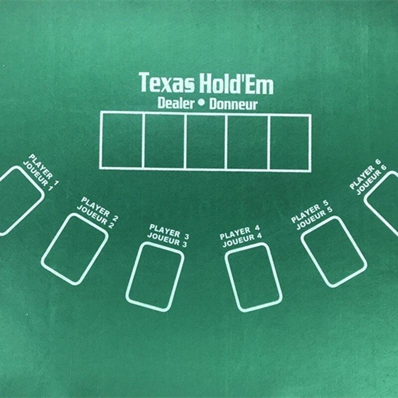 Двусторонний 60*90 см игровой стол ткань баккара покер набор техасский холдем покер макеты скатерть войлочная доска развлечения-2