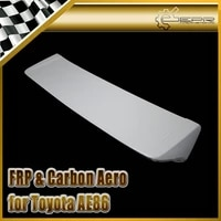 car styling frp fiber glass dm style rear spoiler trunk wing fit for toyota ae86 levin corolla hatchback in stock