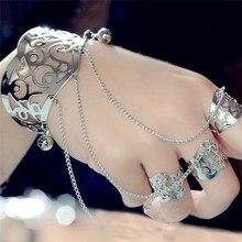 Imixlot or/argent alliage bracelet bague femmes Simple multicouche gland esclave bracelet etharness main chaîne bijoux accessoires